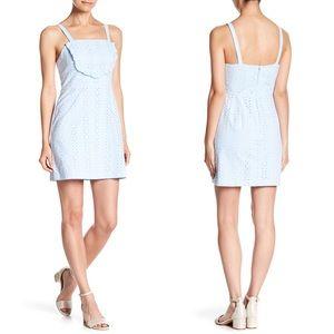 CAD Eyelet Bib Short Dress